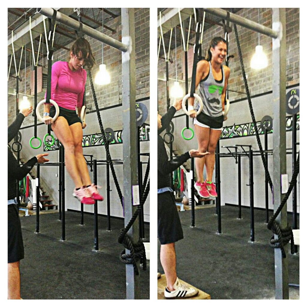 Getting their first no false grip muscle ups...ninja-style!
