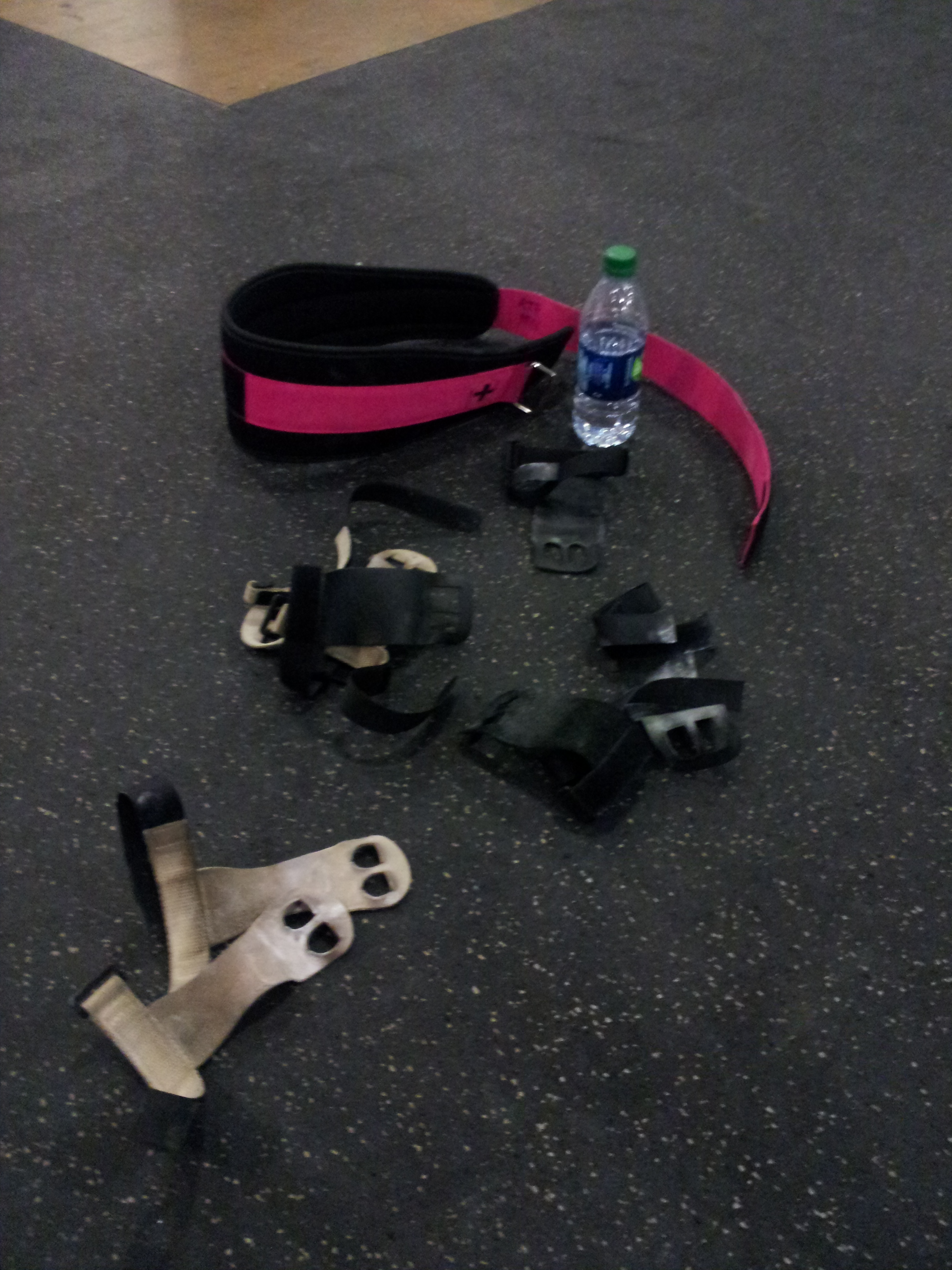 Respect your gym, respect yourself...put your junk away after class