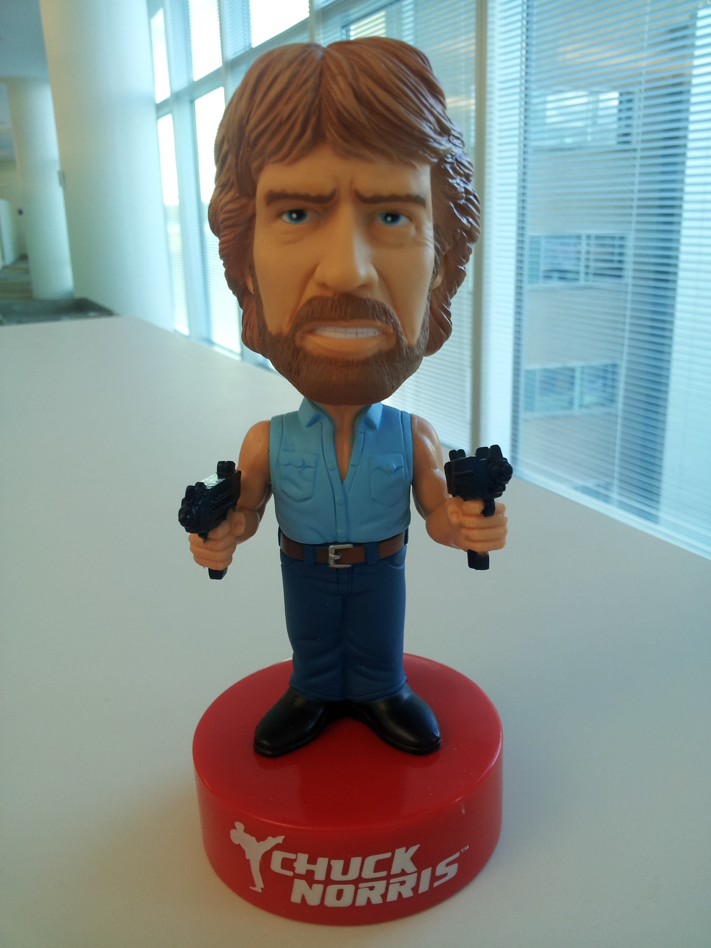 Chuck Norris doesn't breathe...he holds air hostage.