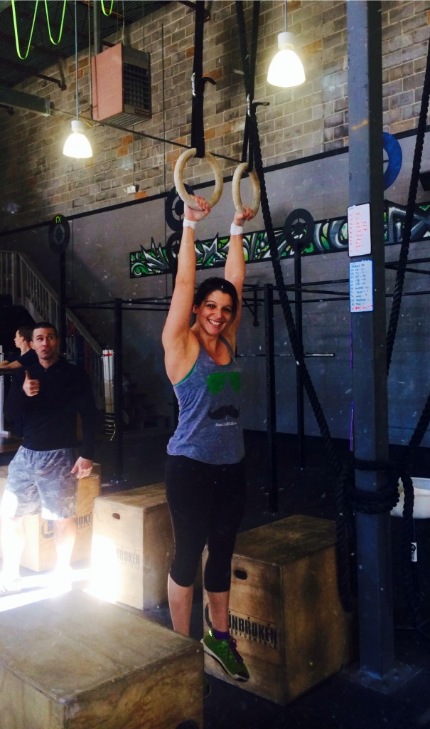 Congrats to Becky earning her first Muscle Up!!
