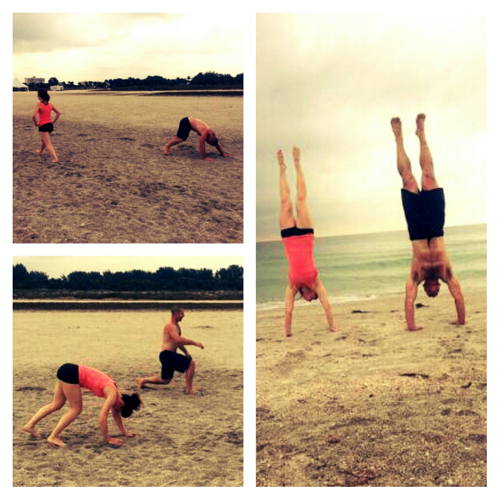 Bear crawls, lunges, and handstands...Travel WOD