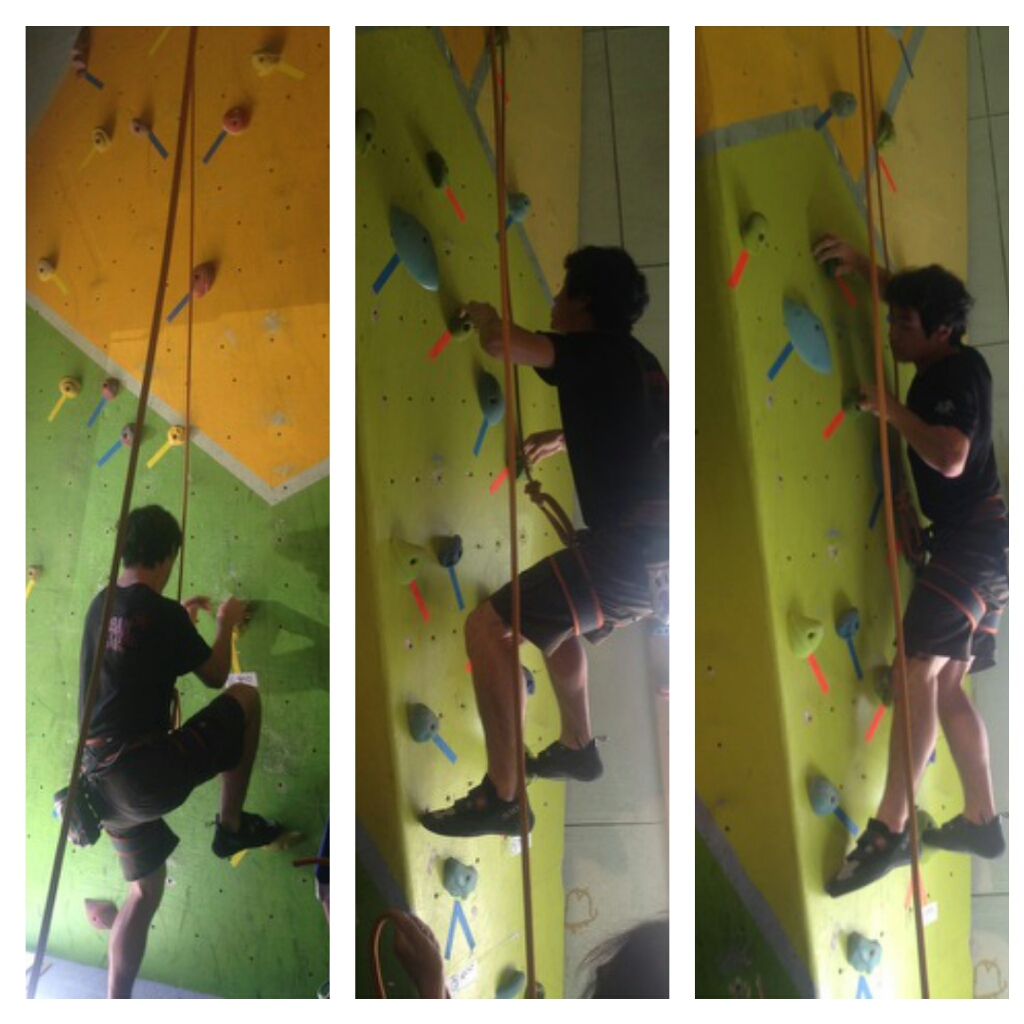 Connor K. cruising a redpoint climbing comp in Athens