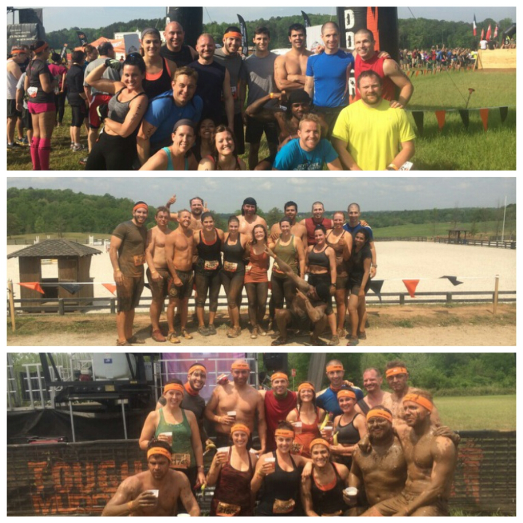 Before...during...after. Team CFRX Mudders